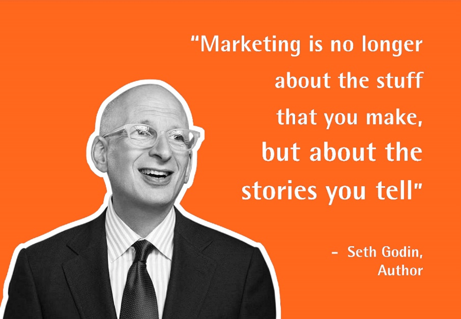 Quote with a picture of Author Seth Godin