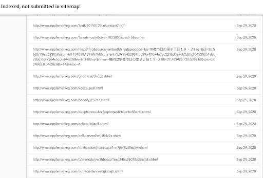 Japanese SEO Hack Coverage Report Search Console